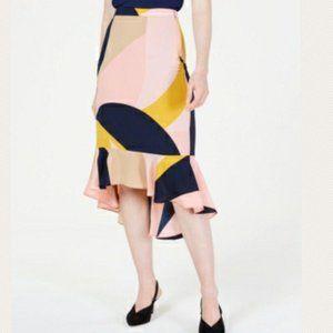 3/$30 Bar III Hi-Low Color Block Trumpet Skirt 2